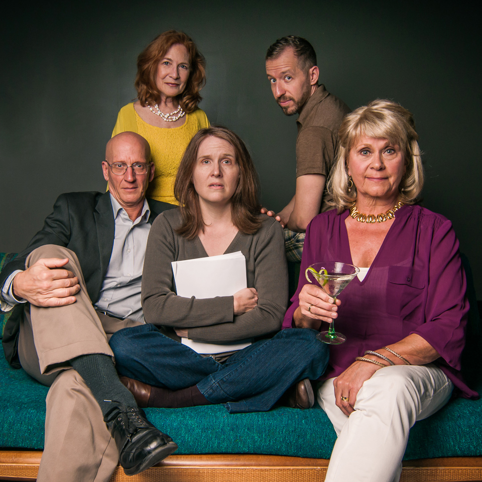 David Loar, Dana DeMartino, Cristy Landis, Brannen Daugherty, and Cynthia Barnett in Other Desert Cities by Jon Robin Baitz at PURE Theatre